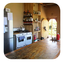 self catering kitchen at Wild Lubanzi